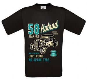 Premium 50 Year Old Hotrod Classic Custom Car Design For 50th Birthday Anniversary gift t-shirt